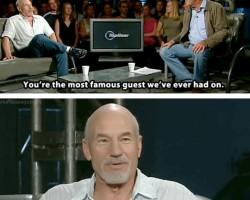 Patrick Stewart Telling It Like It Is