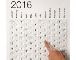 Awesome Bubble Wrap Calendar