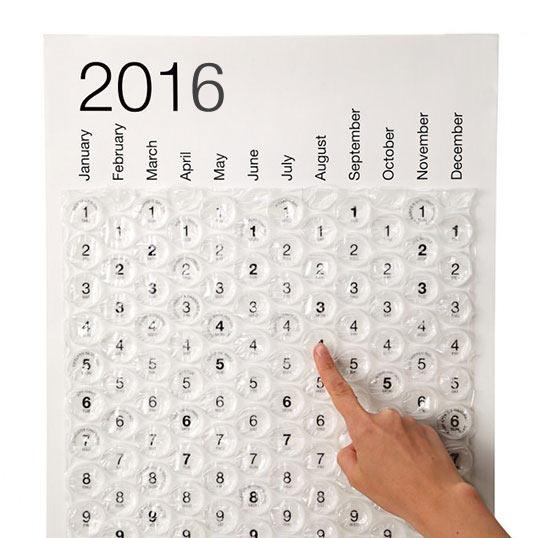 Awesome Bubble Wrap Calendar