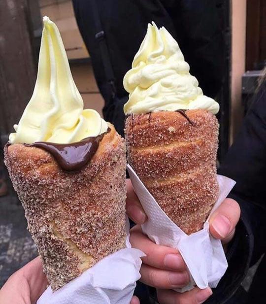 Donut Icecream Cones