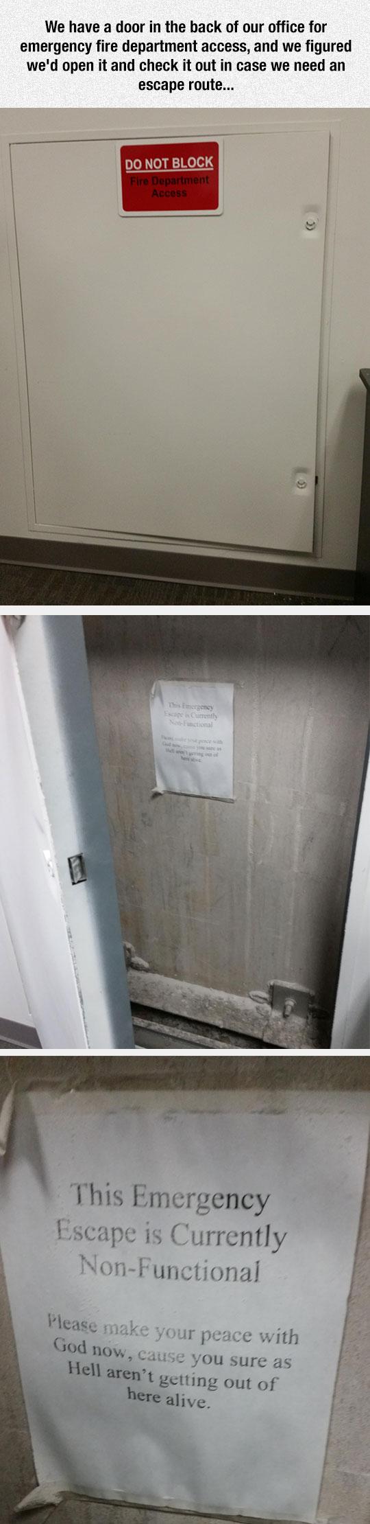 Emergency Access Door