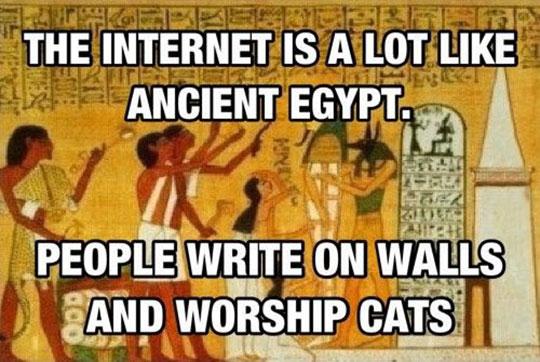 Internet Vs. Ancient Egypt