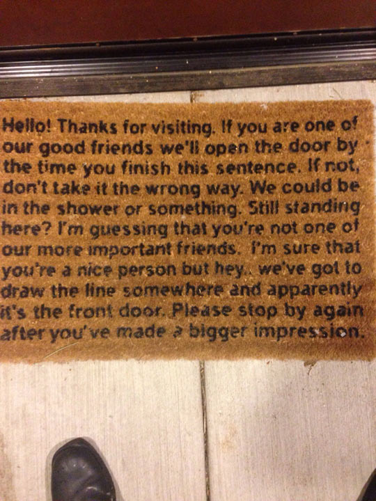 Judged By A Floor Mat