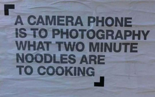 Camera Phones Vs. Real Photography
