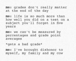 Me Vs. My Grades