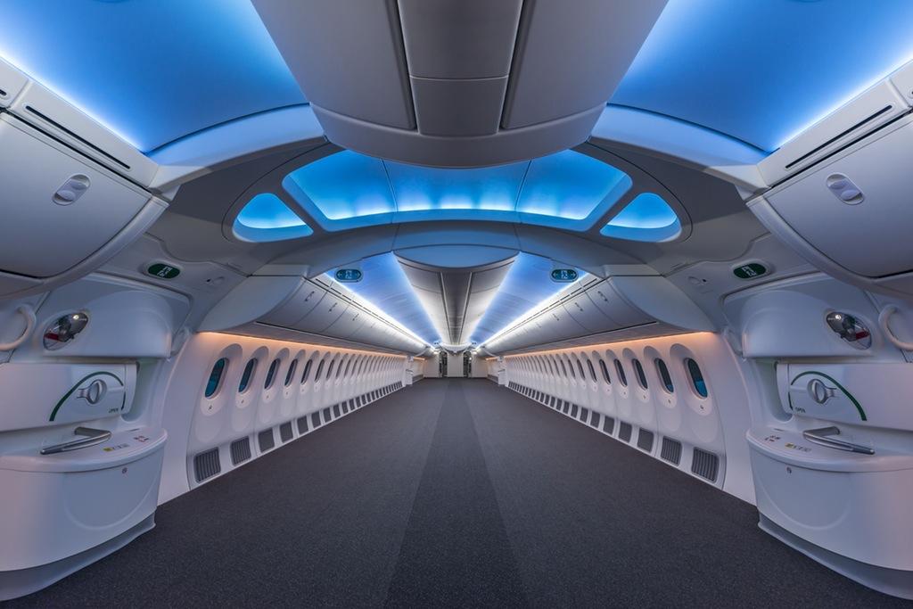 An empty Boeing 787