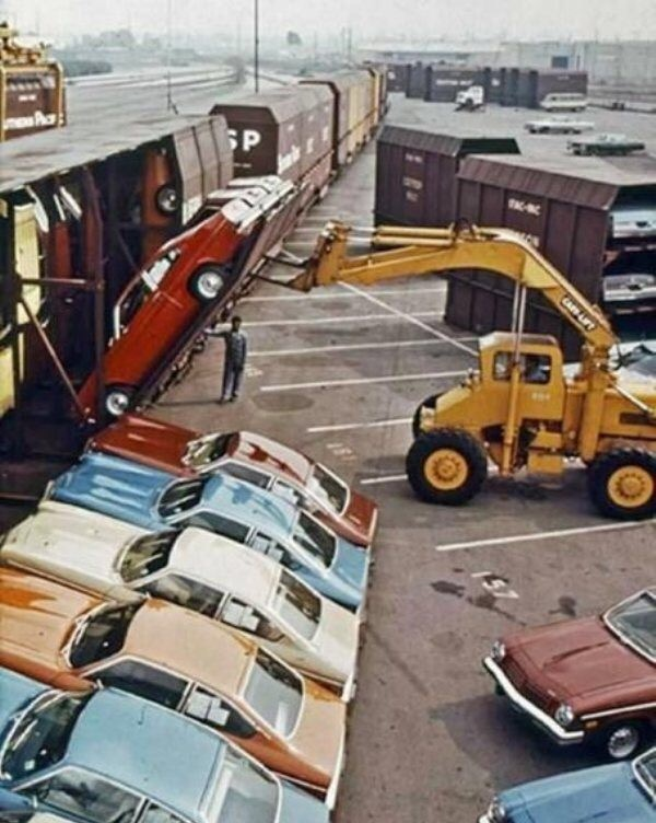 Car delivery in the 70's
