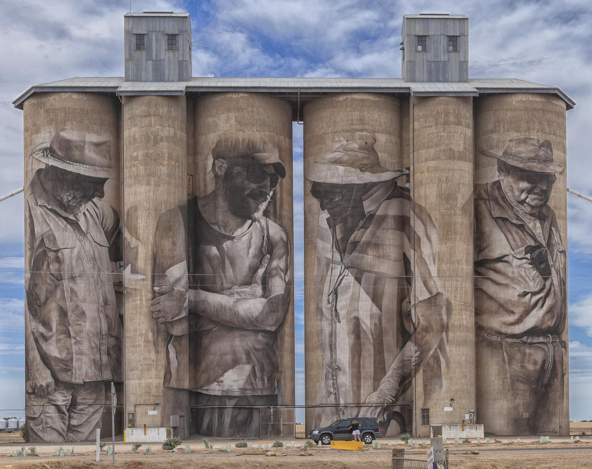 Painted silos in Australia