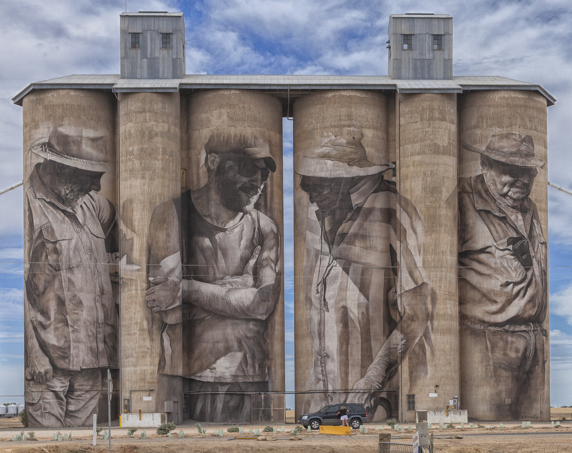 Painted silos in Australia