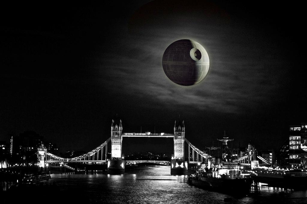 Supermoon over London.
