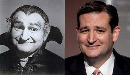 Ted Cruz before and after.
