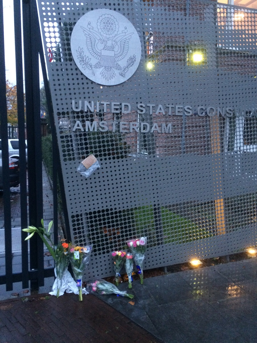 The US consulate in Amsterdam right now