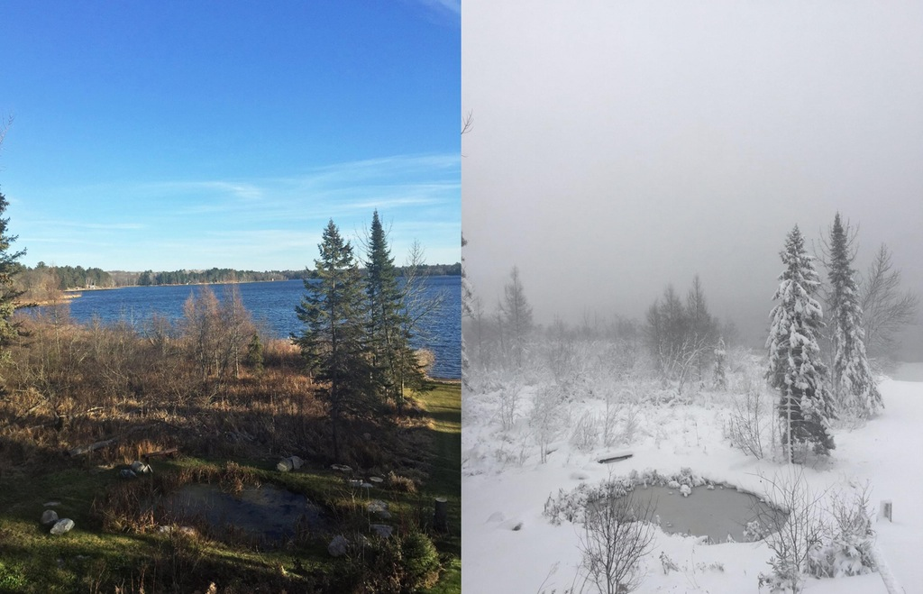 The difference that two days can make in Minnesota