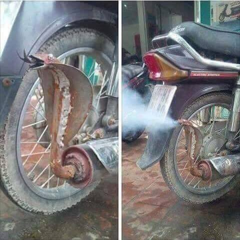 This Motorcycle Exhaust Seen in India