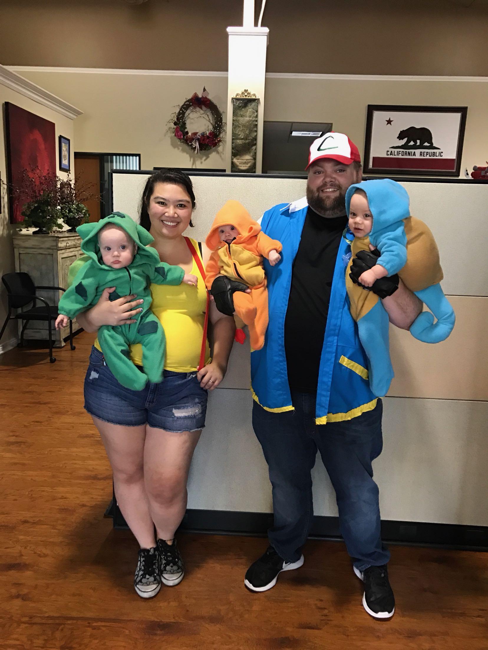 Triplets first Halloween