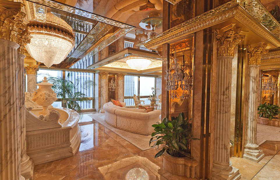 Washington outsider Donald Trump's modest living room in his $100 ...