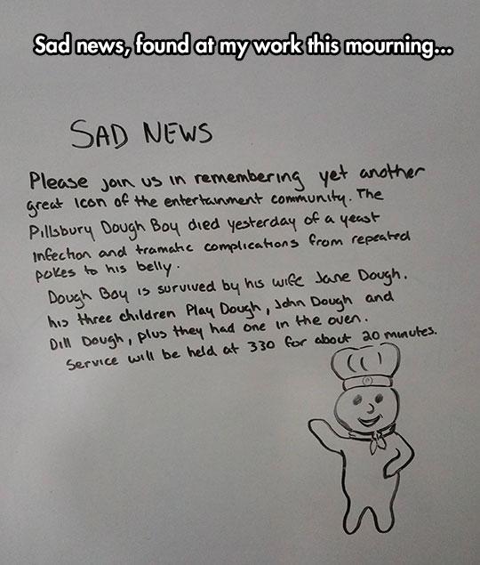 We'll Miss You, Doughboy