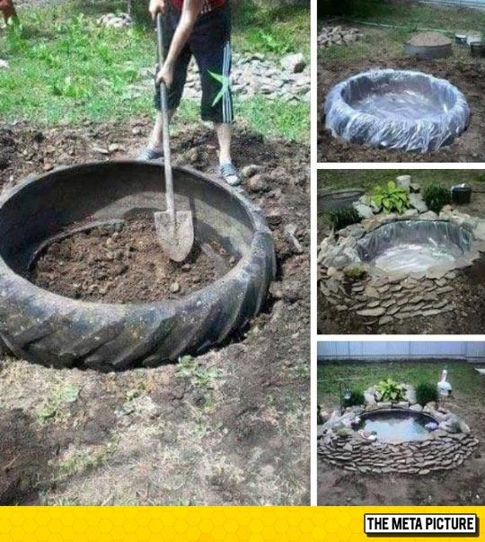 Creative Idea, How To Easily Make A Pond
