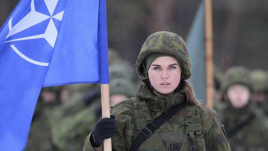 Beautiful NATO girl
