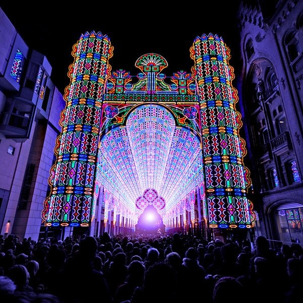 Cathedral made with 55,000 lights
