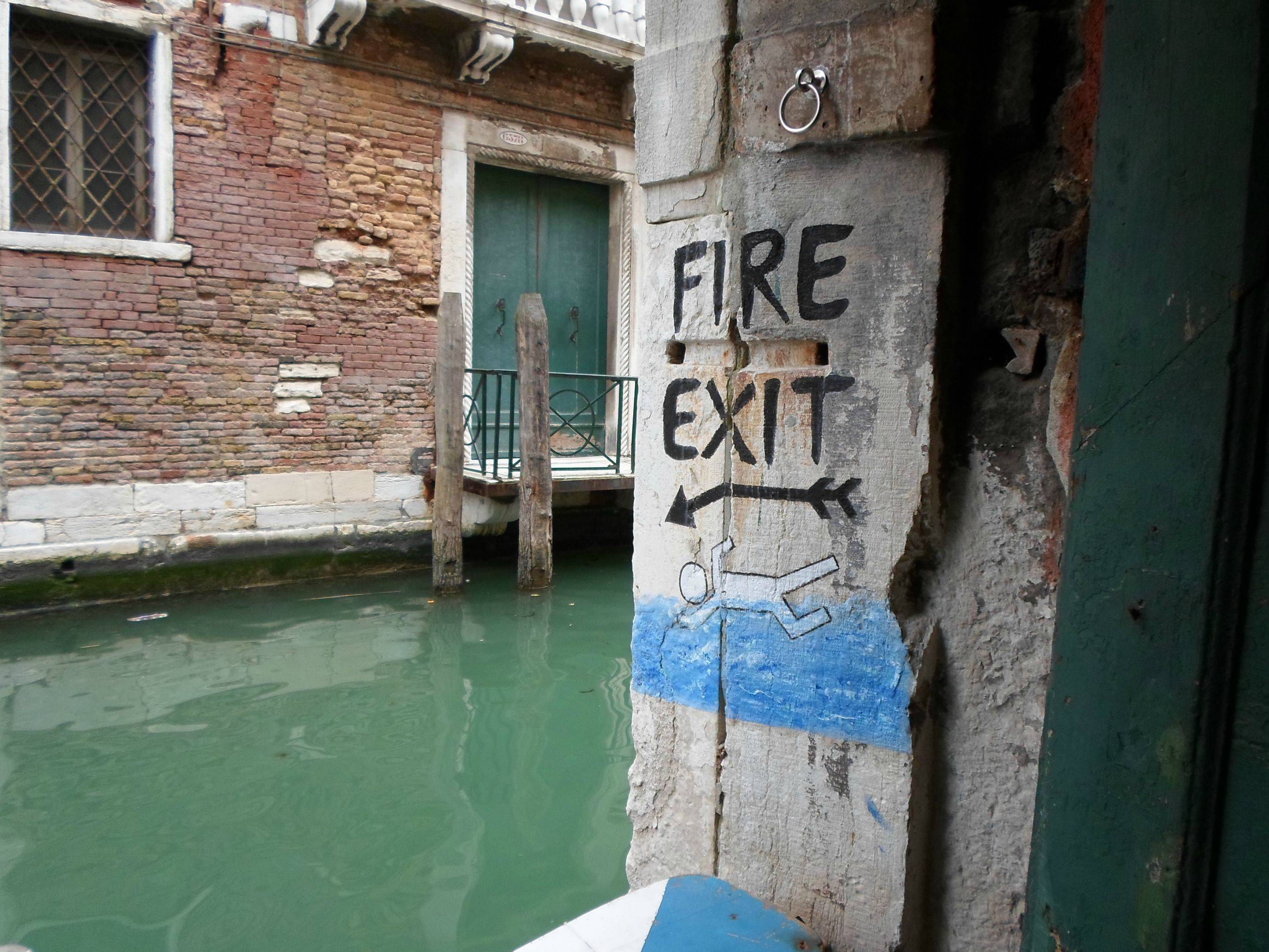 Fire exit, Venice style