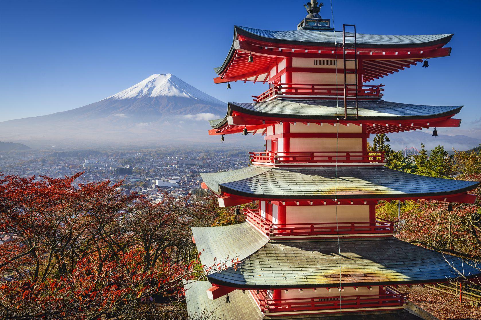 Full beyond a pagoda