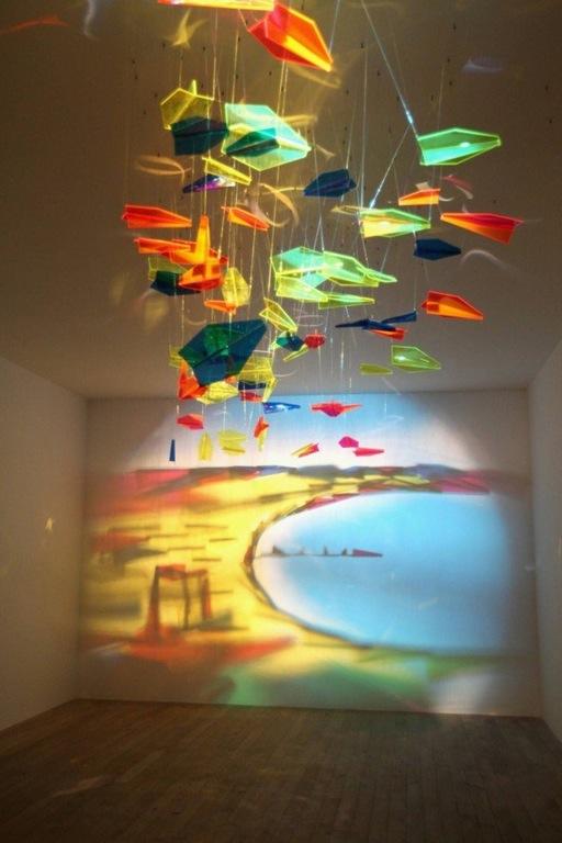 Light painting sculpture