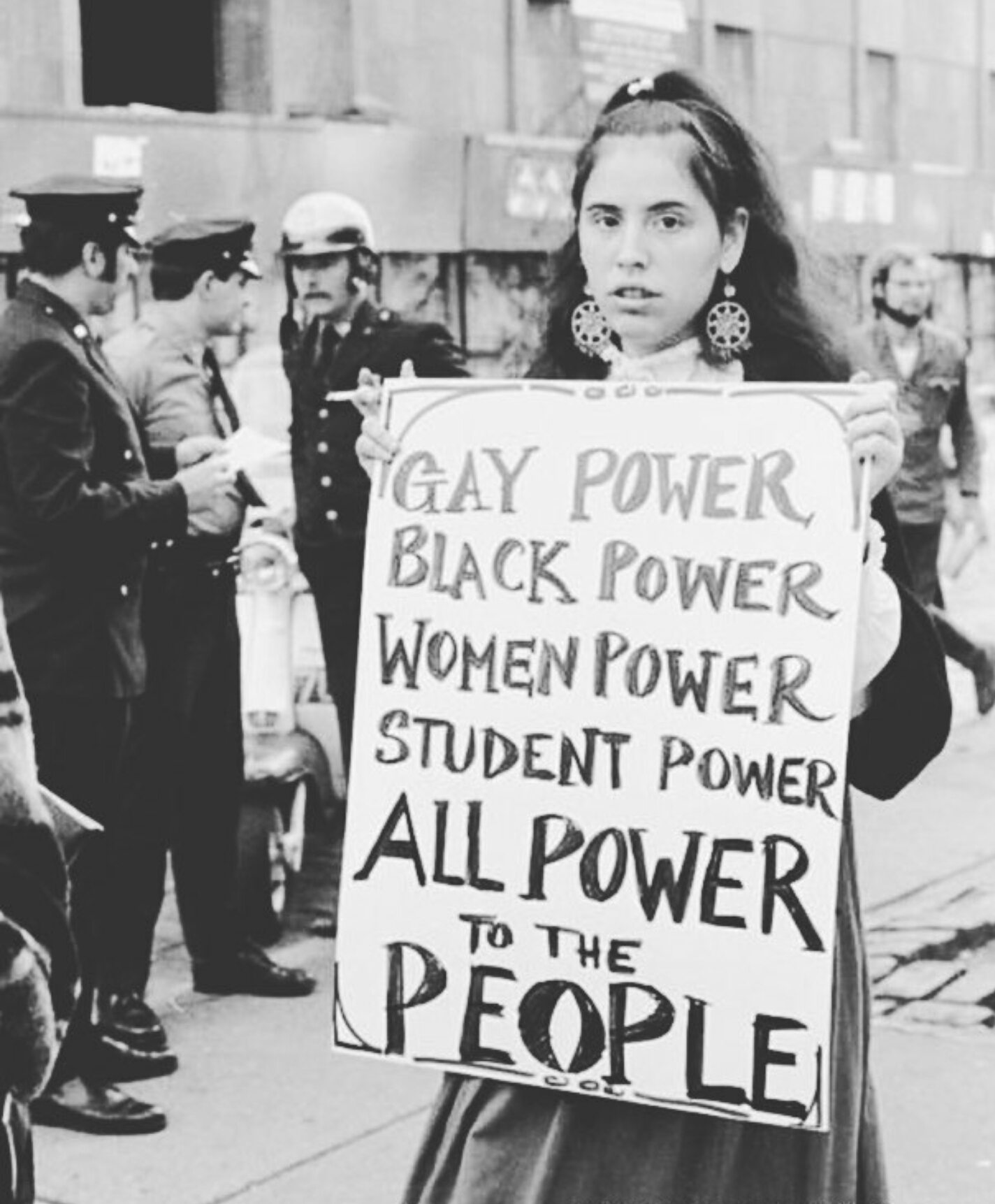 Student protester, 1960s.