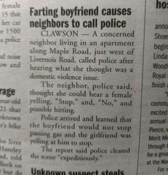 Farting Boyfriend