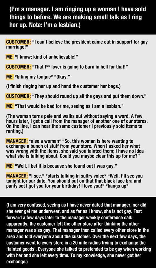 Ignorant Customer Learns A Very Important Lesson