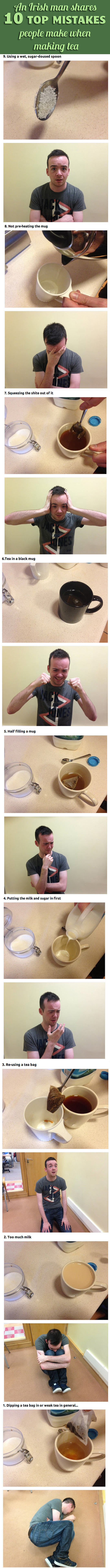 Mistakes People Make When Making Tea