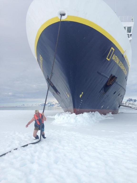 My cousin went beast mode in Antarctica.