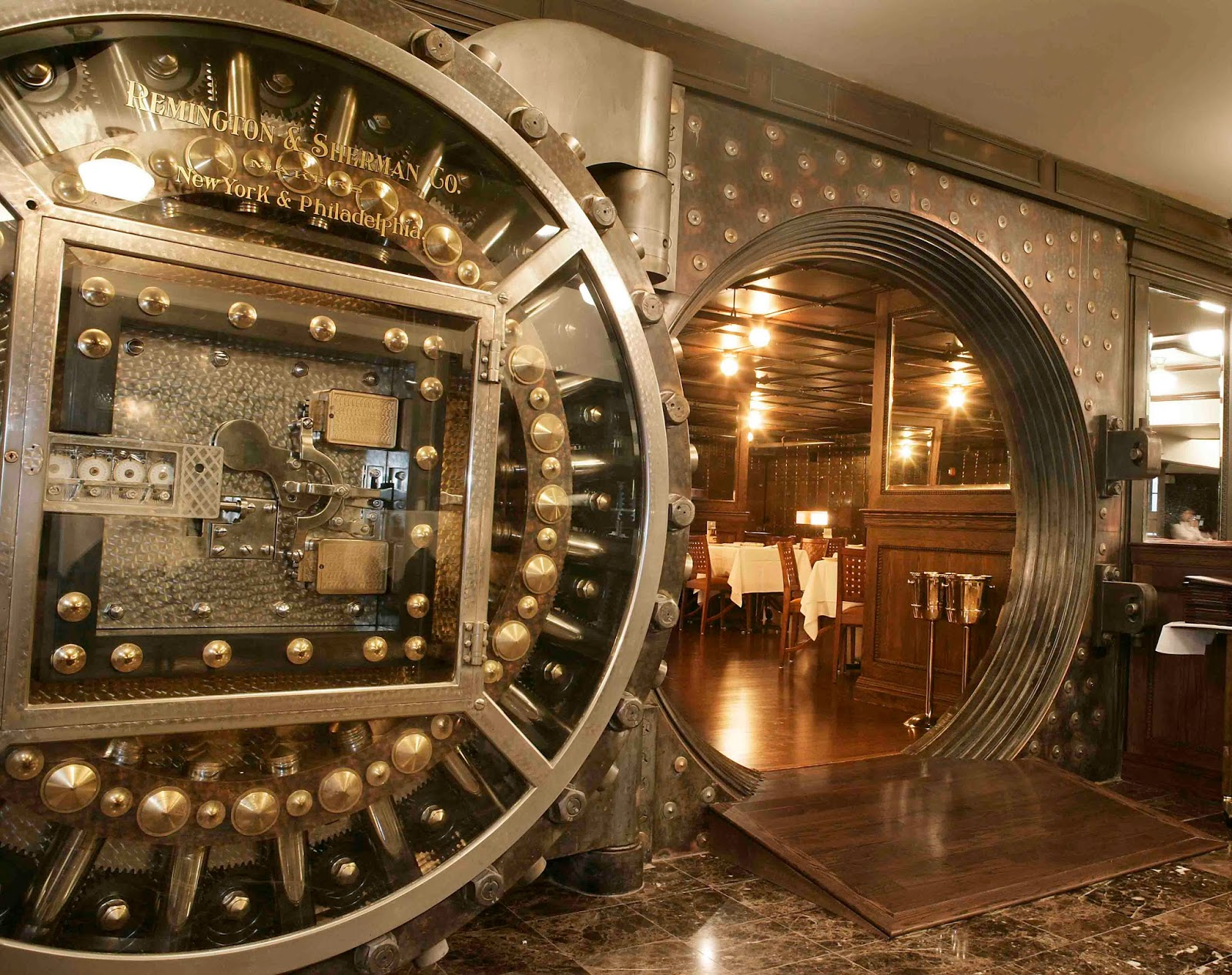 Restaurant in an old bank vault