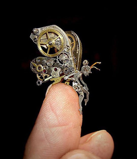 Steampunk Fairy Made From Watch Parts