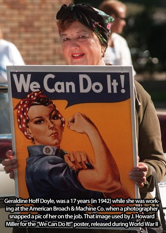 The Famous 'We Can Do It' Lady