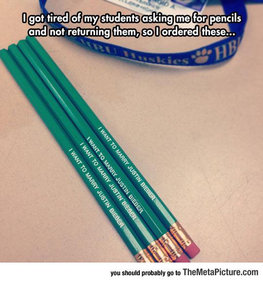 cool-pencil-teacher-written-Justin-Bieber