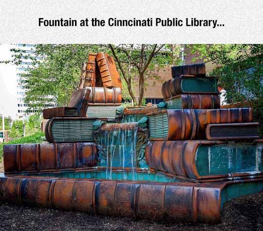 Cinncinati Public Library Fountain