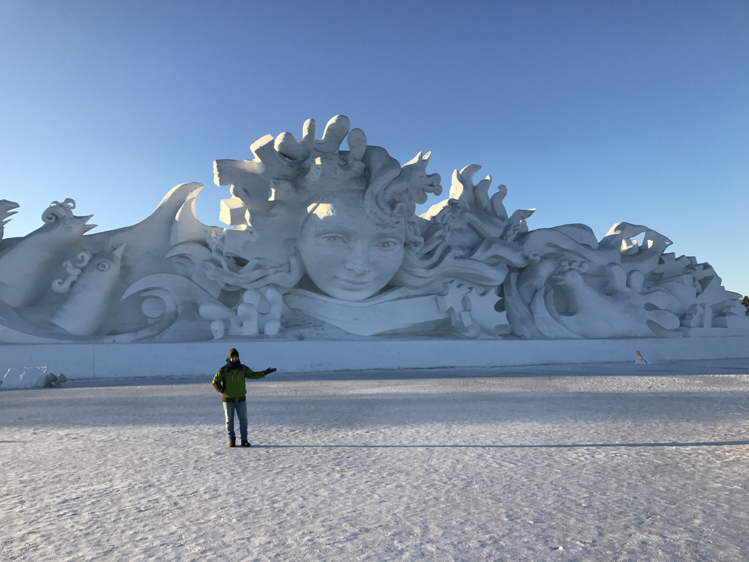 Exploring giant snow sculptures in China.