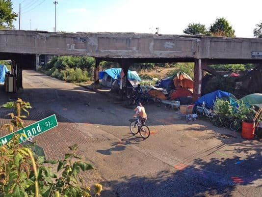 In the United States we have bridges for homeless people.