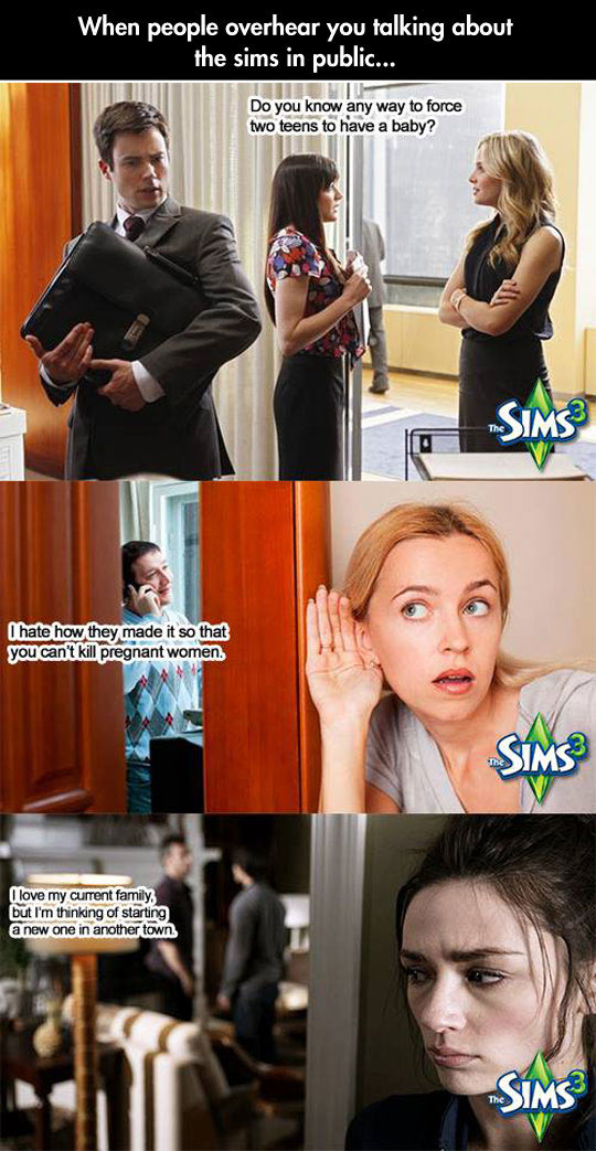 That Moment When You Talk About The Sims In Public