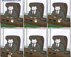 Business Cat At Work