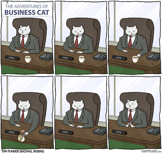 cool-comic-cat-business-office