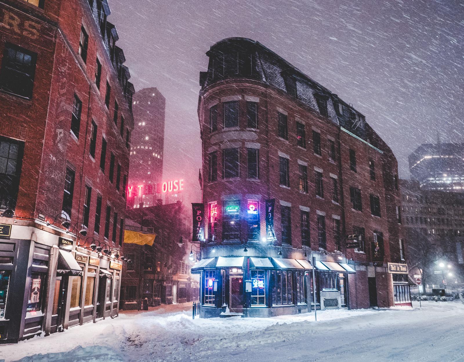 the snowstorm in Boston.