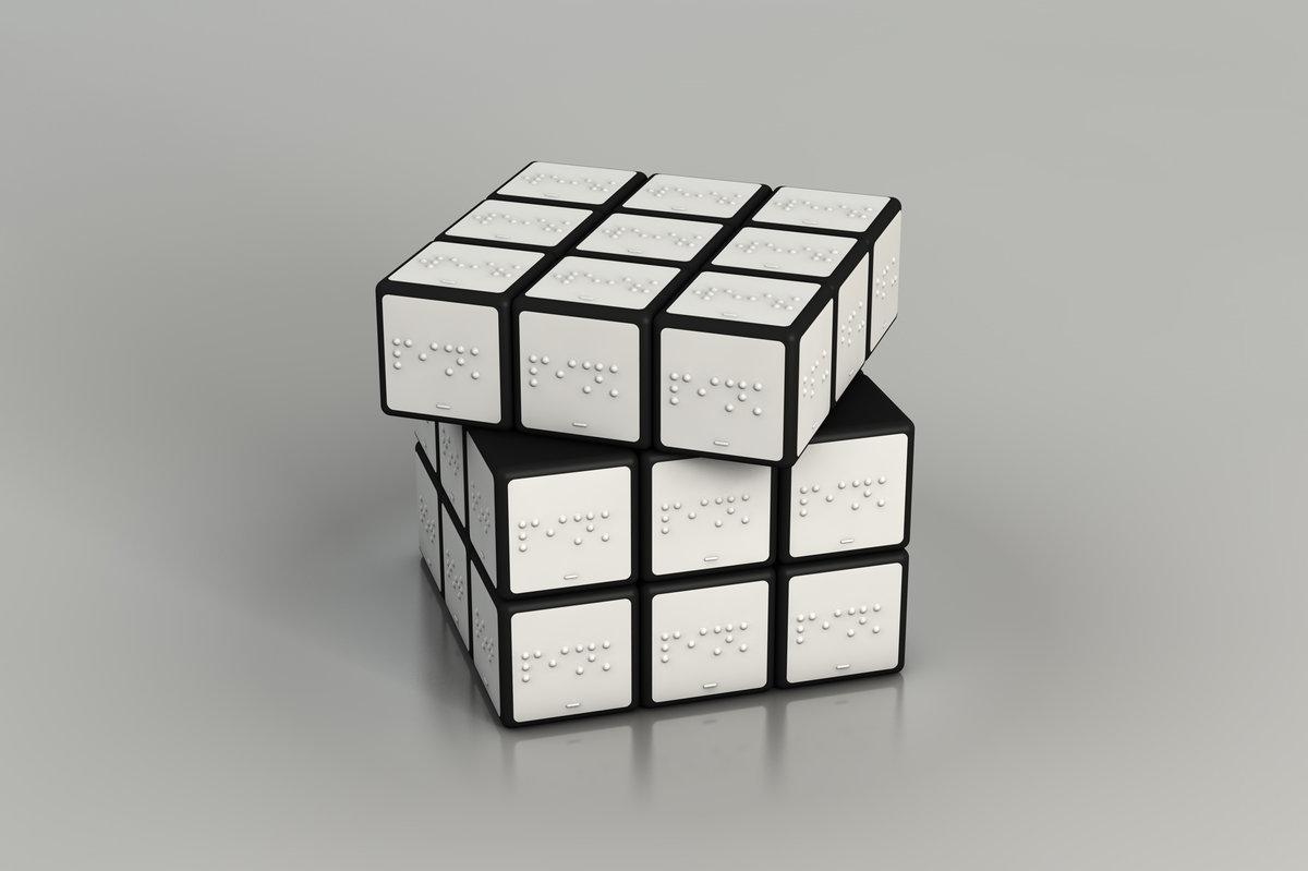 A braille rubik's cube