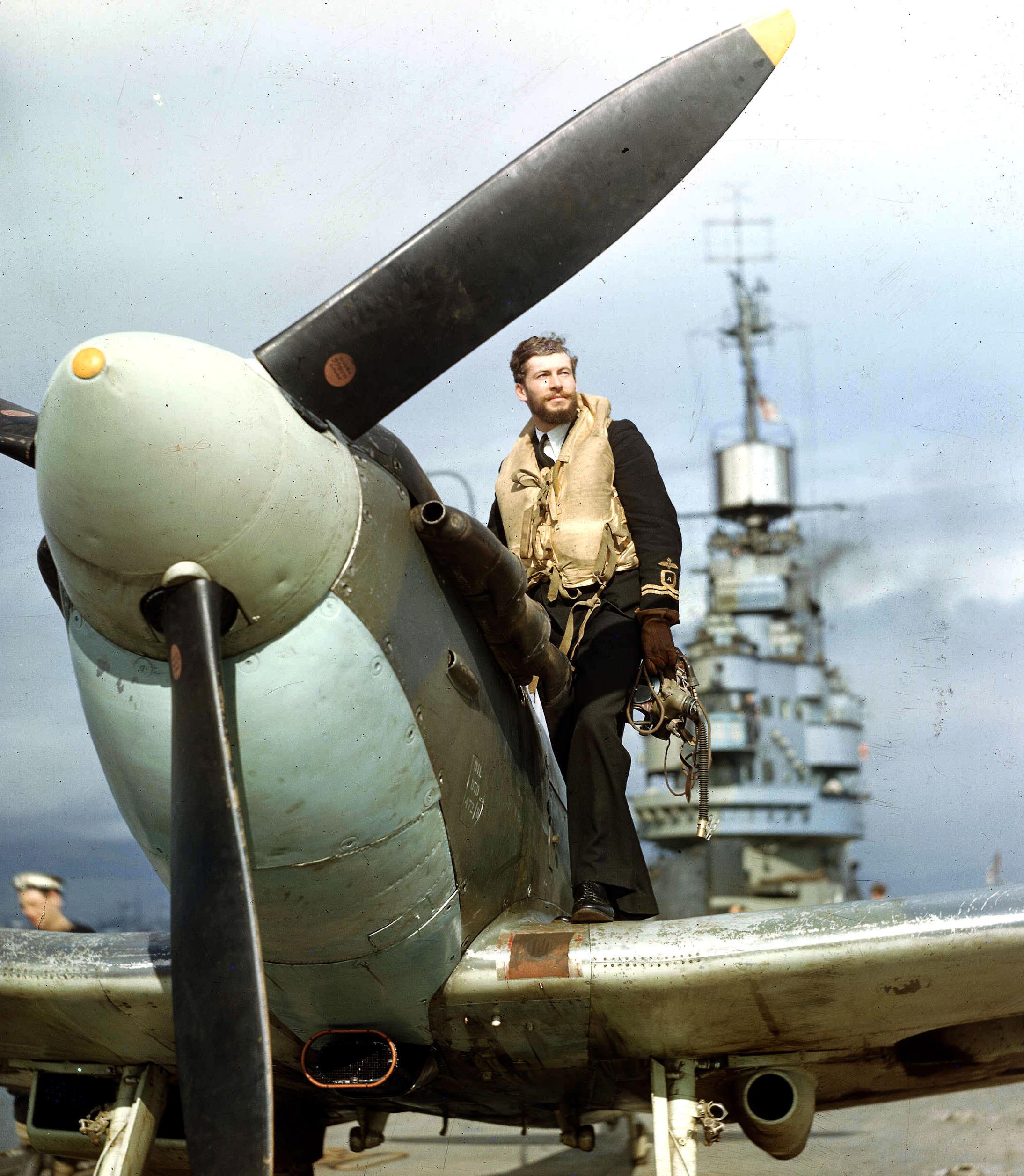 Dashing Royal Navy Pilot, 1943