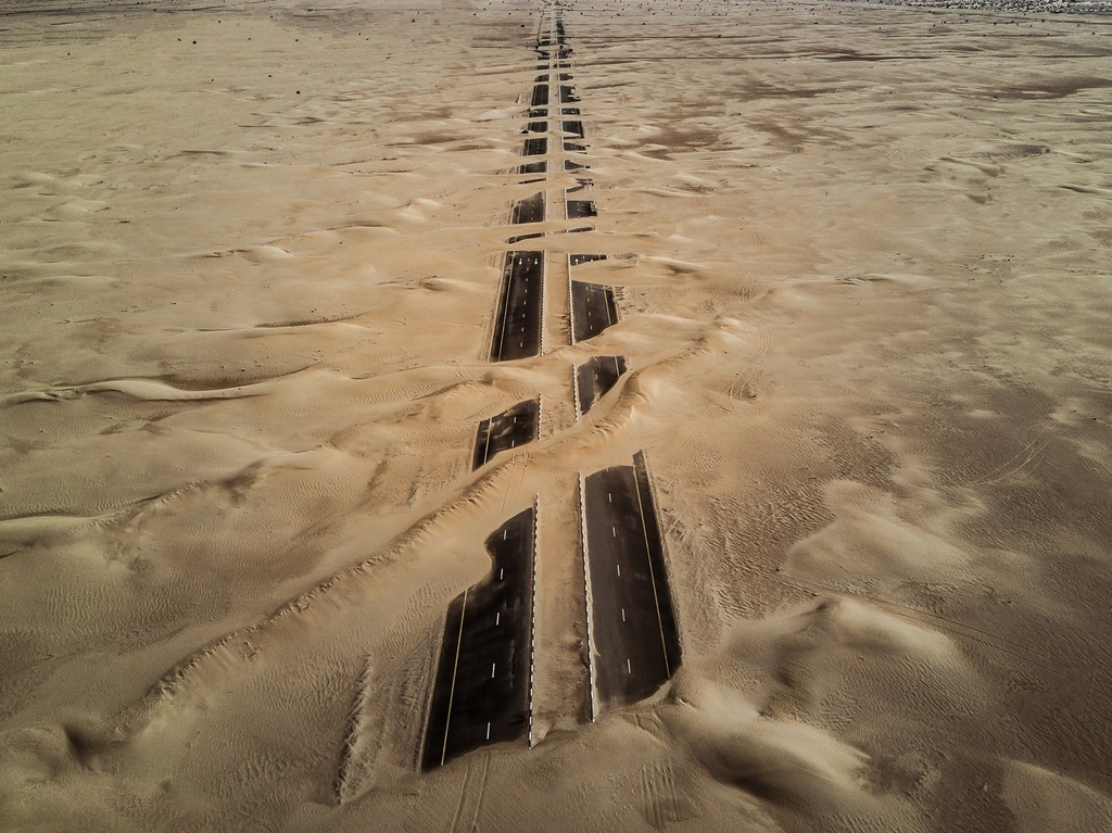 Desert reclaiming its territory