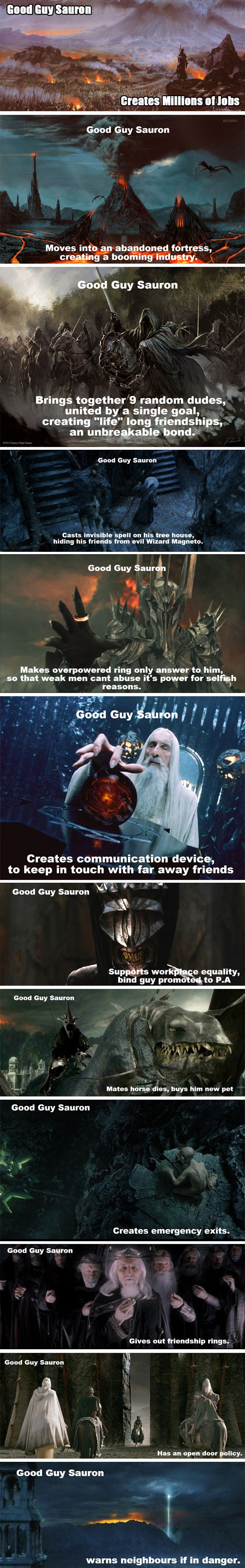 Sauron Was The Good Guy