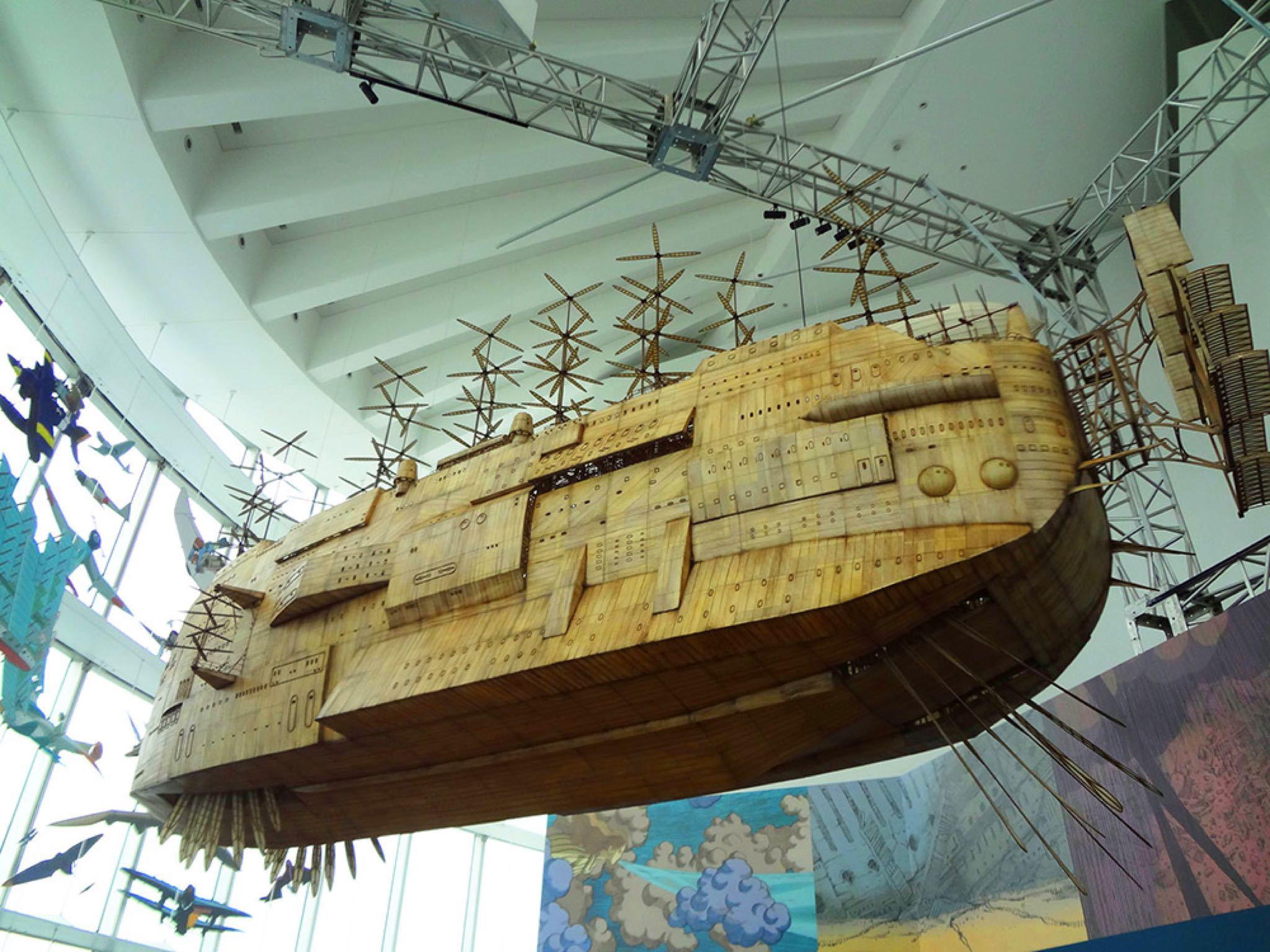 Studio Ghibli Castle in the Sky ship sculpture