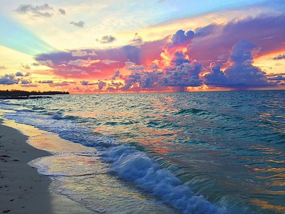 Sunrise in the Bahamas this morning
