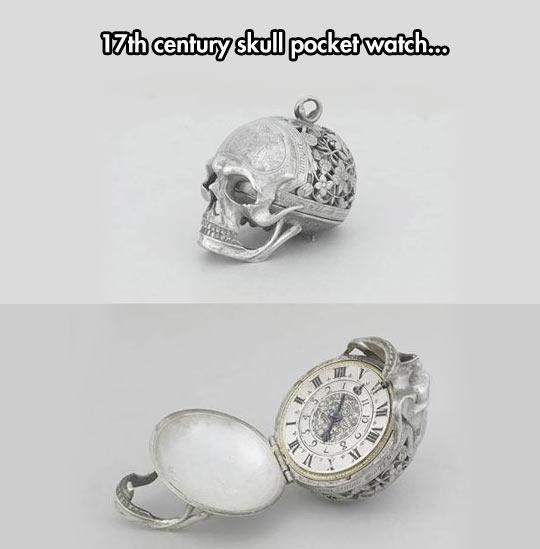 Skull Pocket Watch